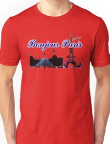 Beautiful architecture Luvoure museum ,Effel towerParis france graphic art Unisex T-Shirt