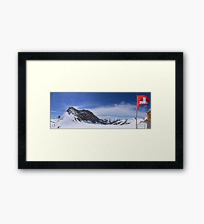 Jungfraujoch Views - the Spirit of Switzerland Framed Print
