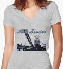 Beautiful London Tower bridge Women's Fitted V-Neck T-Shirt