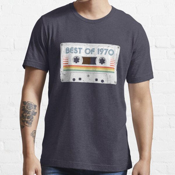 50th Birthday Best of 1970 Cassette Tape Vintage for Gift Essential T-Shirt