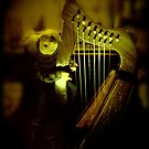Witchy- Poo Playing the Harp by waxyfrog