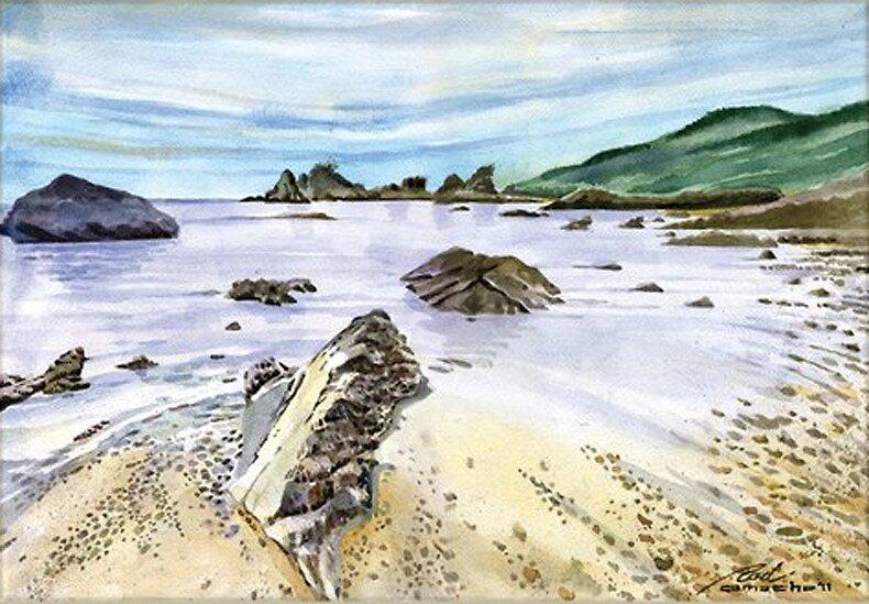 Twin Rock Beach_1  by seanmerod