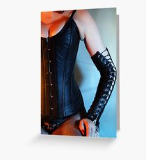Leather Corset Greeting Card