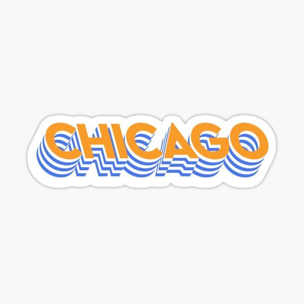 Raised Chicago Sticker