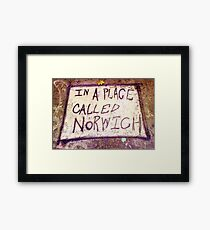 Norwich, England - Urban Art Framed Print