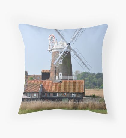 Cley Windmill from the east Throw Pillow