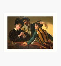 Michelangelo Merisi Da Caravaggio - Cardsharps Art Print