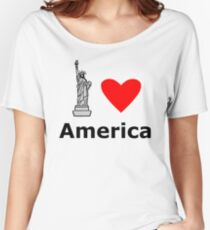 I Love America Women's Relaxed Fit T-Shirt
