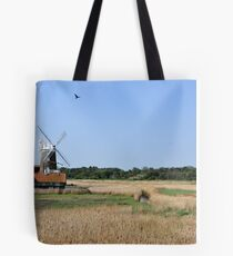 Cley Windmill with royal wedding bunting Tote Bag