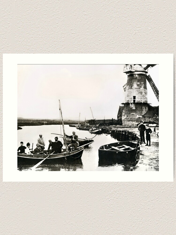 Alternate view of Cley windmill - the shooting party 1888 Art Print