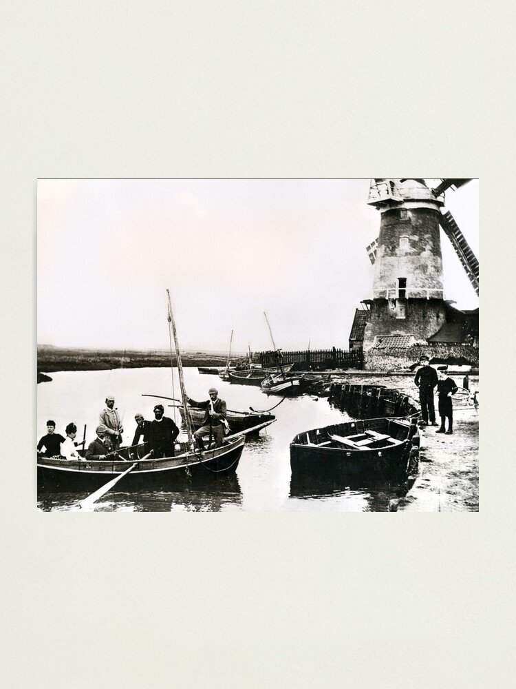 Alternate view of Cley windmill - the shooting party 1888 Photographic Print