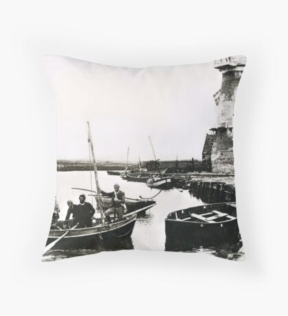 Cley windmill - the shooting party 1888 Throw Pillow