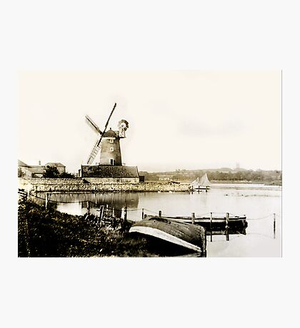 Cley Windmill marsh tide 1900 Photographic Print