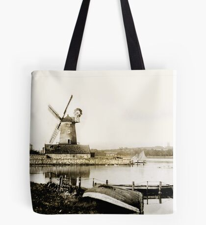 Cley Windmill marsh tide 1900 Tote Bag