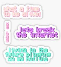 cyber sex sticker sheet Sticker