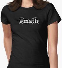 Math - Hashtag - Black & White Womens Fitted T-Shirt