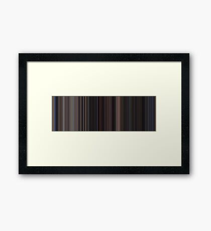 Moviebarcode: Back to the Future Part II (1989) [Simplified Colors] Framed Print