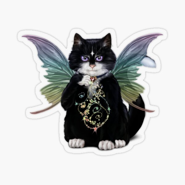 Pem the Fairy Cat Transparent Sticker