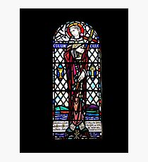 Saint Columba Stain Glass Window Iona Abbey Scotland Photographic Print