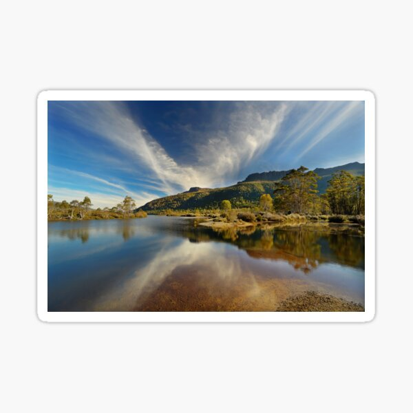 Narcissus River, Tasmania Sticker