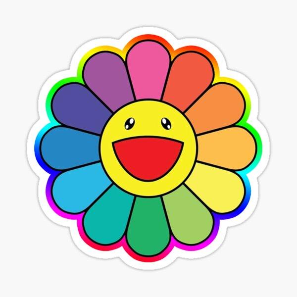 rainbow murakami sticker Sticker