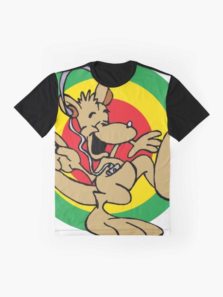 Alternate view of Dancehall Reggae Australia Kangaroo Graphic T-Shirt