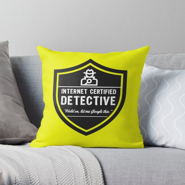 Internet Detective, True Crime Obsessed  Throw Pillow