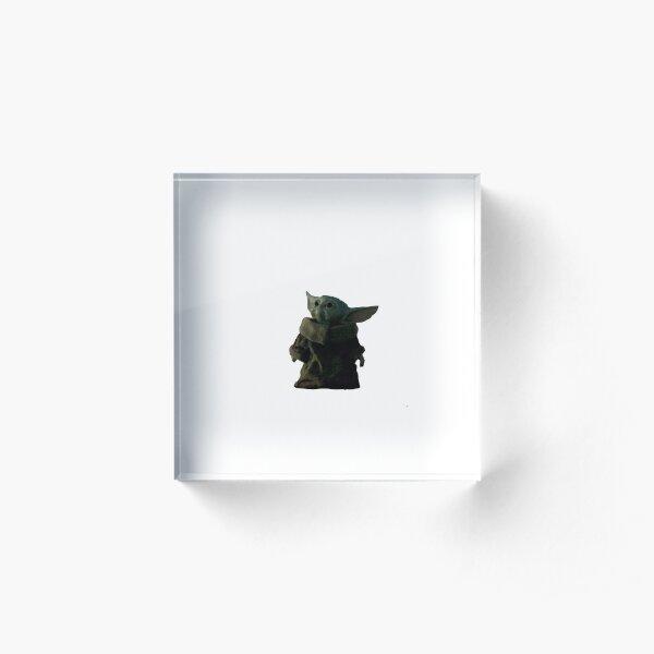 Baby Yodas Leben Acrylblock