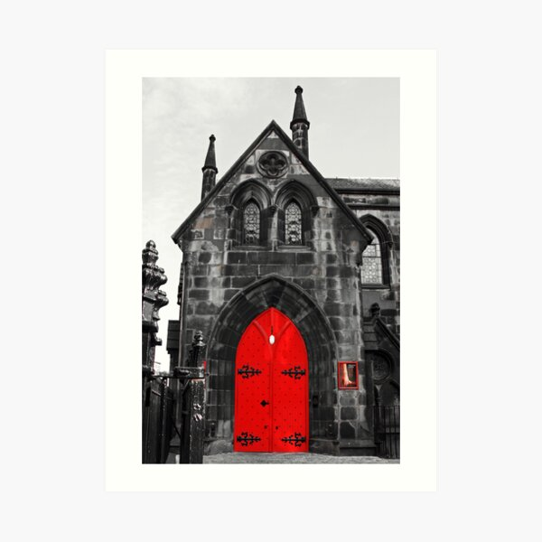 Edinburgh Door Art Print