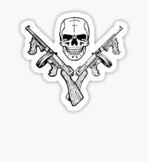 Skull and Tommy Guns Sticker