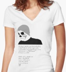 Advertise to Death Women's Fitted V-Neck T-Shirt