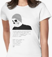 Advertise to Death Women's Fitted T-Shirt