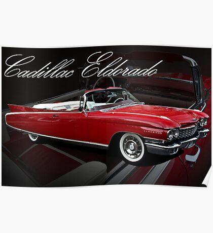1960 Cadillac 62 Series Convertible El Dorado Poster