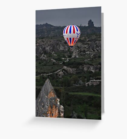 Flight over the Valley Greeting Card