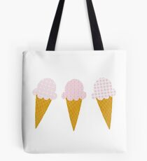 Strawberry Ice Cream Cones Tote Bag