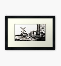 Cley Windmill sea port 1880s Framed Print