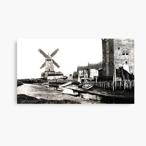 Cley Windmill sea port 1880s Canvas Print