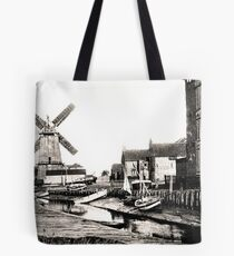 Cley Windmill sea port 1880s Tote Bag