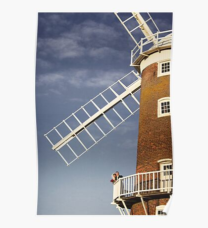 Cley Windmill - Love in the air Poster