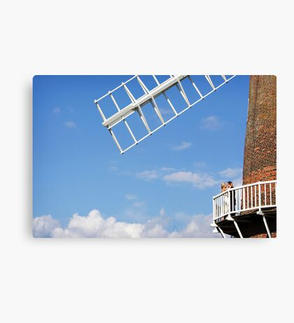 Cley Windmill - Love is in the air Canvas Print