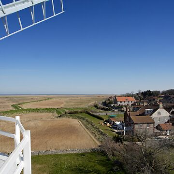Cley windmill - the view from the fan-stage by cleywindmill