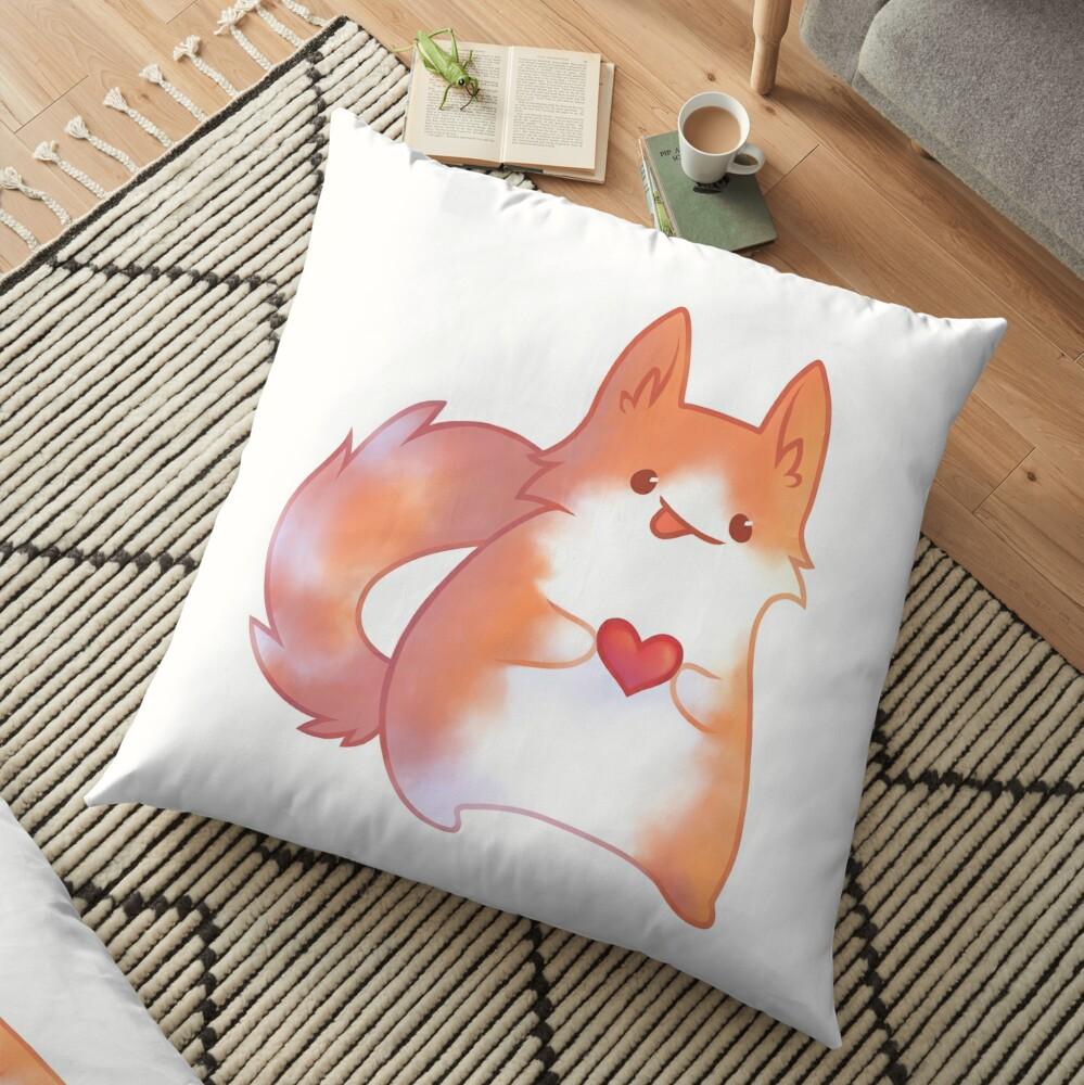Ginger Cat Floor Pillow