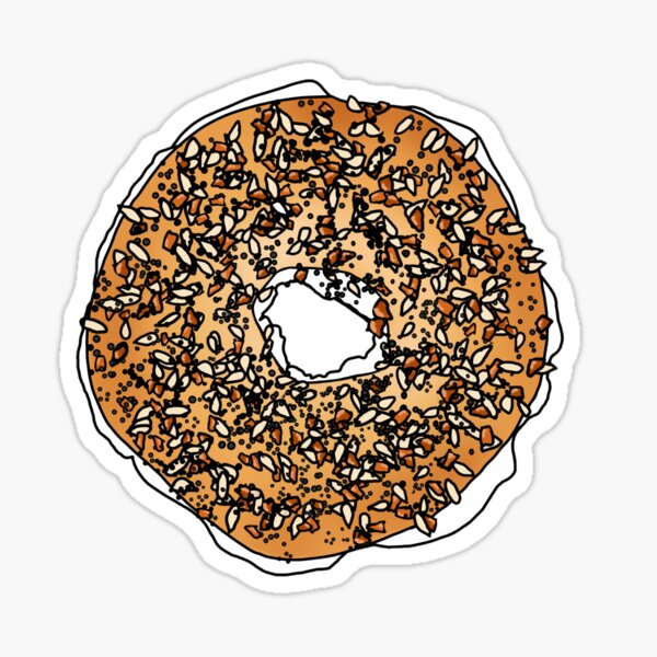 everything bagel with cream cheese Sticker