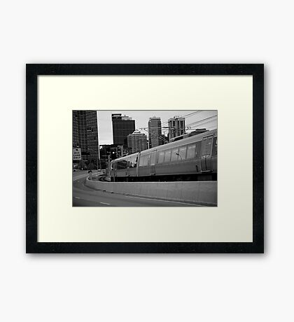cityscapes #239, onward rush Framed Print