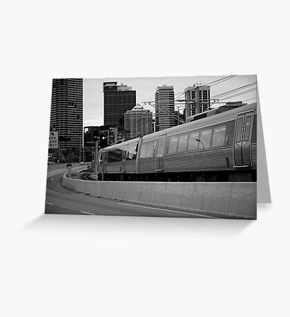 cityscapes #239, onward rush Greeting Card