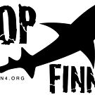 Ocean4 Stop Finning Logo by AdanichDesign