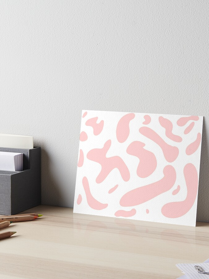 Pink Cow Print Moo Aesthetic Kawaii Pastel Art Board Print By