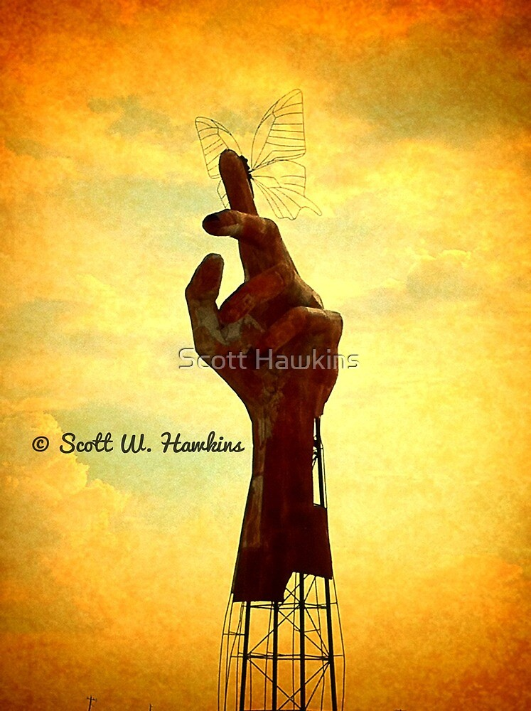 The Metal Butterfly Hand of Stratford by Scott Hawkins