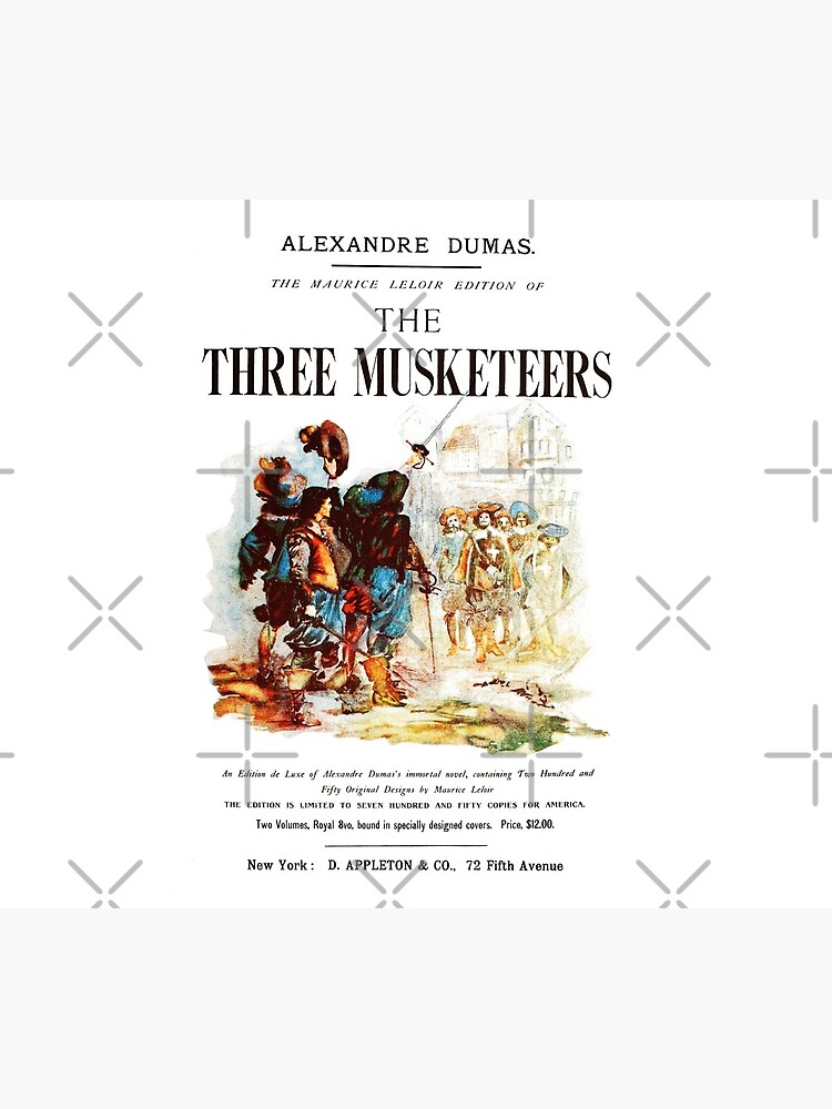 HIGH RESOLUTION The Three Musketeers Alexandre Dumas Vintage Book Cover by buythebook86