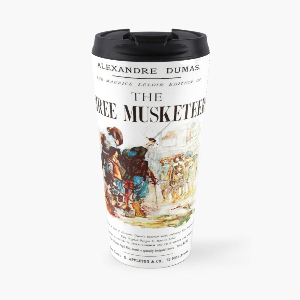 HIGH RESOLUTION The Three Musketeers Alexandre Dumas Vintage Book Cover Travel Mug